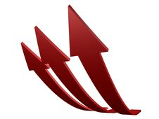 Free Red Arrows Up Royalty Free Stock Images - 4439309