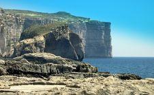 Free Rugged Coastline, Gozo, Malta Stock Images - 4439814