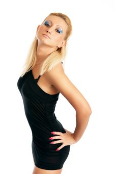 Free Glamor Girl Posing Stock Photography - 4439832