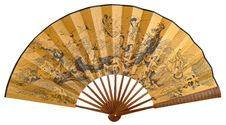 Free Chinese Folding Fan Stock Photography - 44380202