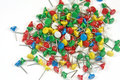 Free Multi-colored Stationary Pins Royalty Free Stock Images - 4441659