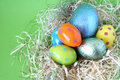 Free Easter Eggs Lying In Straw Stock Image - 4444421