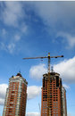 Free Crane And Two Buildings Stock Image - 4444461