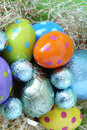 Free Easter Eggs Lying In Straw Stock Photos - 4444623