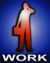 Free Working Business Man Outline 1 Royalty Free Stock Photography - 4446917