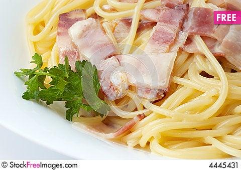 Free Spaghetti With Ham Stock Image - 4445431