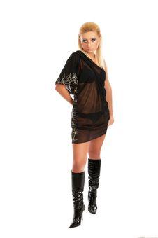 Free Glamor Girl Posing Stock Image - 4440011