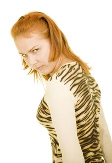 Free Anger Girl Royalty Free Stock Images - 4440179