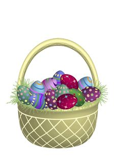 Free Gold Easter Basket Modern Royalty Free Stock Images - 4440449