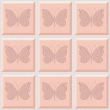Free Butterfly Tiles Royalty Free Stock Photography - 4441077