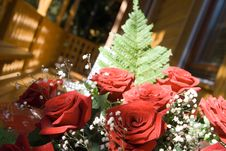 Free Bunch Of Red Roses Stock Photo - 4441230