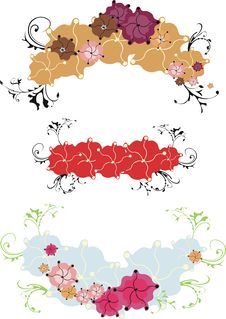 Free Floral Banners Stock Photo - 4441630