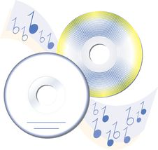 Free Electron Computer Music Compact Disks Concept Royalty Free Stock Photography - 4441707