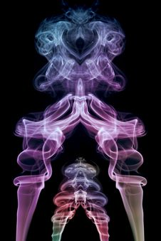 Free Two Colored Smoke Stock Photo - 4442330