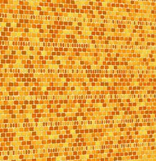 Golden Brown Mosaic Tiles Stock Images