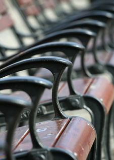 Free Row Of Chairs Royalty Free Stock Photo - 4443315