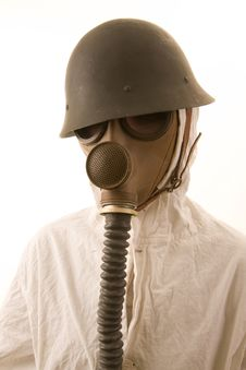 Free Person In Gas Mask Royalty Free Stock Photos - 4443478