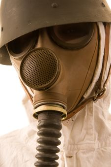 Free Person In Gas Mask Royalty Free Stock Images - 4443479