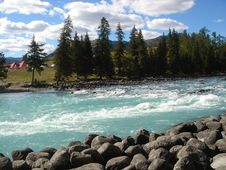 Free River In Mongolia03 Royalty Free Stock Image - 4443486