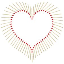 Free Heart Made Of Matchsticks Stock Images - 4443534