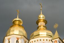 Golden Domes Royalty Free Stock Photos