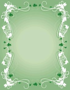 Free Shamrock Background Royalty Free Stock Photography - 4443897
