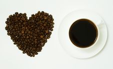 Free Coffee Heart. Royalty Free Stock Images - 4443939
