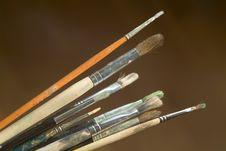 Free Paintbrushes Stock Image - 4444011