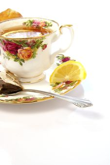 Tea And Lemon Royalty Free Stock Photo