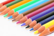 Free Colour Pencils Royalty Free Stock Photography - 4444407