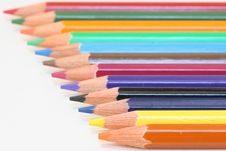 Free Colour Pencils Royalty Free Stock Photography - 4444417