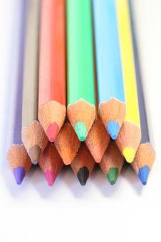 Free Colour Pencils Royalty Free Stock Photos - 4444428