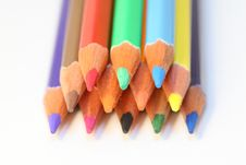 Free Colour Pencils Royalty Free Stock Photo - 4444495