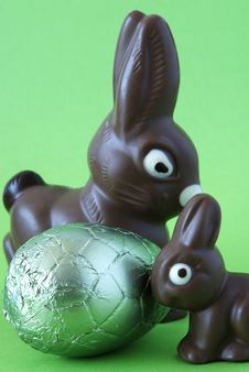 Free Easter Bunnies Stock Image - 4444511