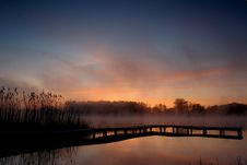 Free Pier And Reed By Lake Edge Stock Photos - 4444643