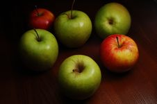 Free Colored Apples Royalty Free Stock Photography - 4445277