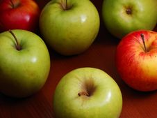Free Colored Apples Stock Photo - 4445350