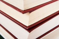 Free Pile Of Books Isolated On A White Royalty Free Stock Photography - 4445427