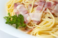 Free Spaghetti With Ham Stock Image - 4445431