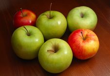 Free Colored Apples Royalty Free Stock Images - 4445449