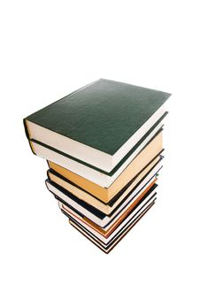 Free Pile Of Books Isolated On A White Stock Image - 4445461