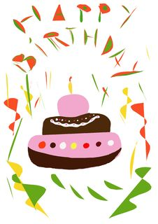Free Birthday Cake Royalty Free Stock Photos - 4445568