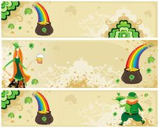St Patrick S Set Of Banners Royalty Free Stock Image