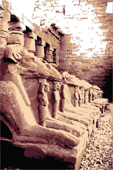 Free Sphinxes In Egypt Royalty Free Stock Images - 4445889