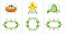Free Easter Spring Birds Cards 2 Stock Image - 4445951