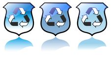 Set Of High Quality Recycling Icons Vectors Royalty Free Stock Photography