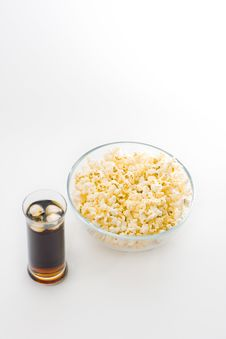 Popcorn And Coke Stock Image