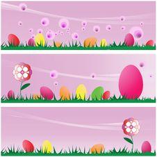 Free Set Easter Scenes Stock Image - 4446201
