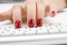 Free Fingers With Red Nail Royalty Free Stock Photo - 4446335