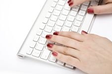 Free Fingers With Red Nail Royalty Free Stock Photos - 4446368